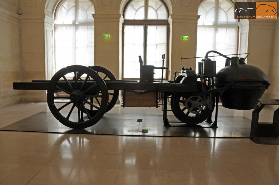 """das erste """"selbstfahrende, nicht schienengebundene Landfahrzeug"""" - also Automobil wurde bereits im Jahr 1770 von Nicolas Cugnot gebaut."""