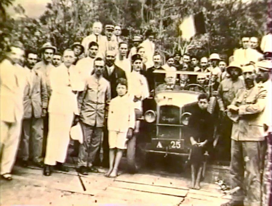 Die erste Fahrt im Cirque de Cilaos im Jahr 1931