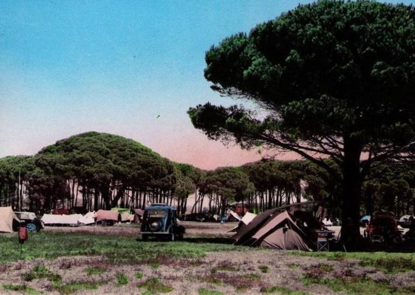 Campingplatz mit Peugeot 201 D
