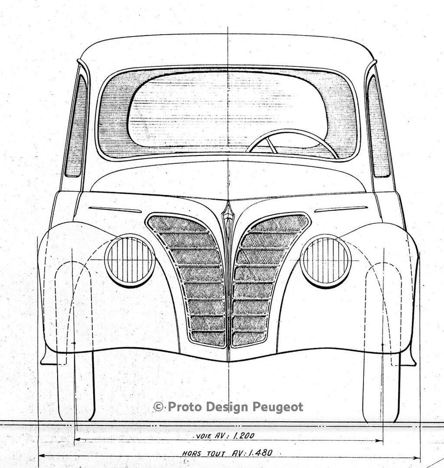 Entwürfe Prototypen ab 1940 für eine neue Baureihe mit 5, 7 und 10 CV