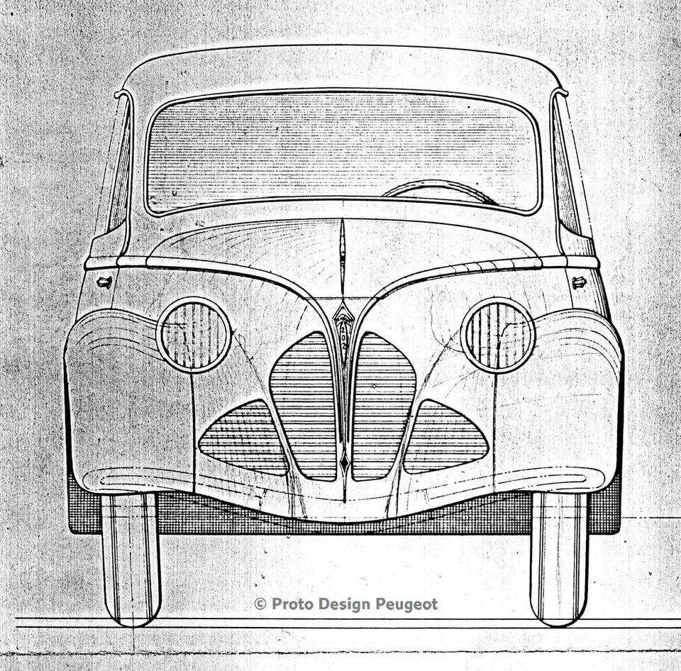 """Entwurf des """"Faceliftings"""" des 402"""