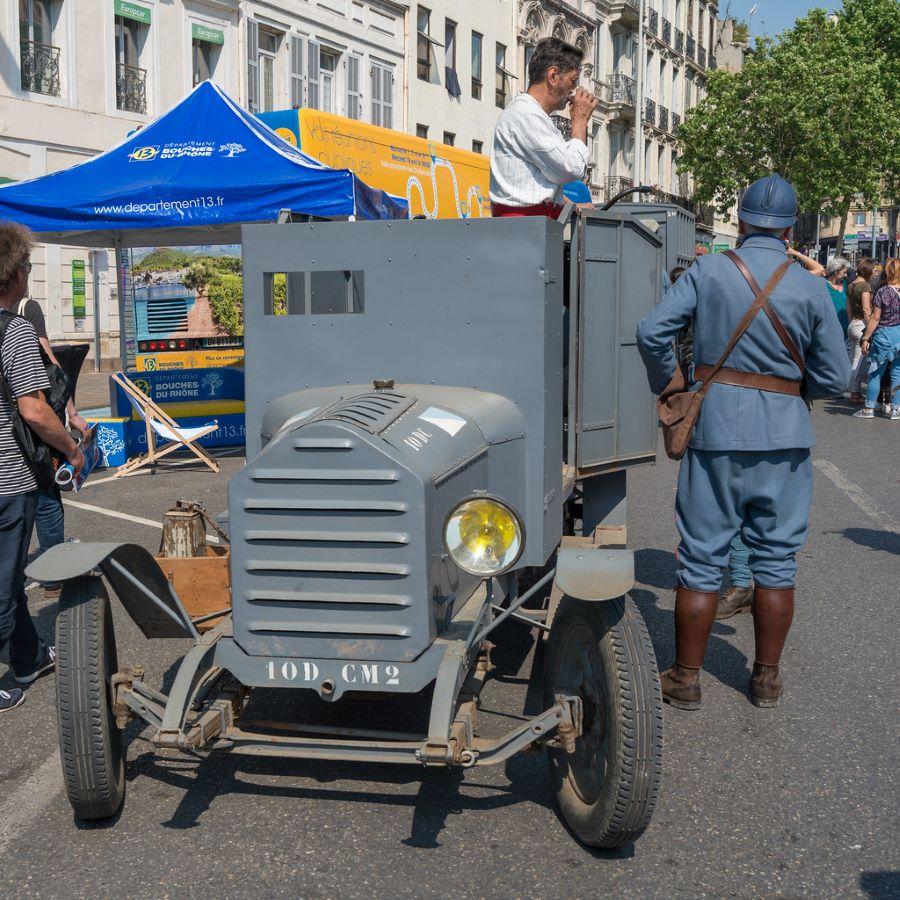 """Peugeot Typ 153 AM """"Autoblind"""" - gepanzerter Spähwagen des ersten Weltkriegs"""