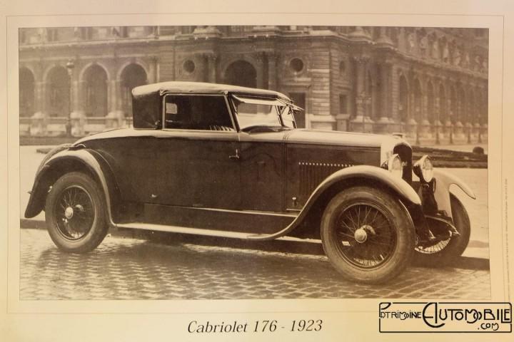 Eines der wenigen historischen Bilder des Peugeot 176 Cabriolet