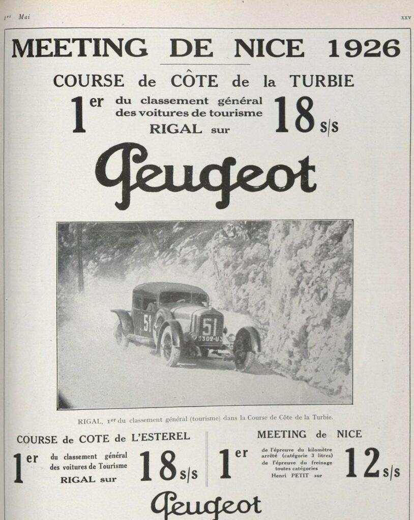 Typ 174 (18 CV) - dank seiner Leichtbau-Karosserie konnte er bei einer ganzen Reihe von Tourenwagen-Veranstaltungen Erfolge erringen.