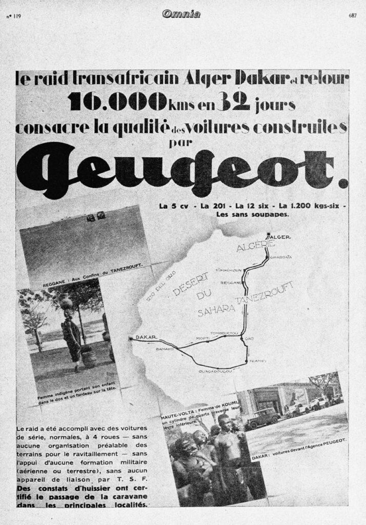 Peugeot Werbung Sahara-Querung
