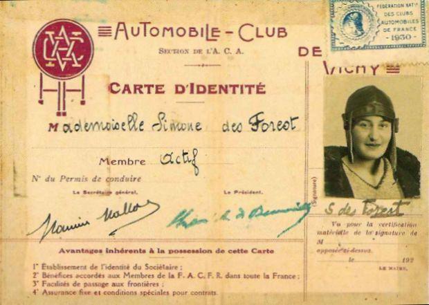 Fahrer Karte Simone de Forest