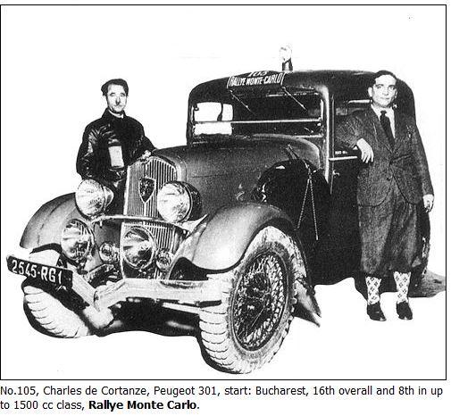 Peugeot 301 Rallye Monte Carlo 1934