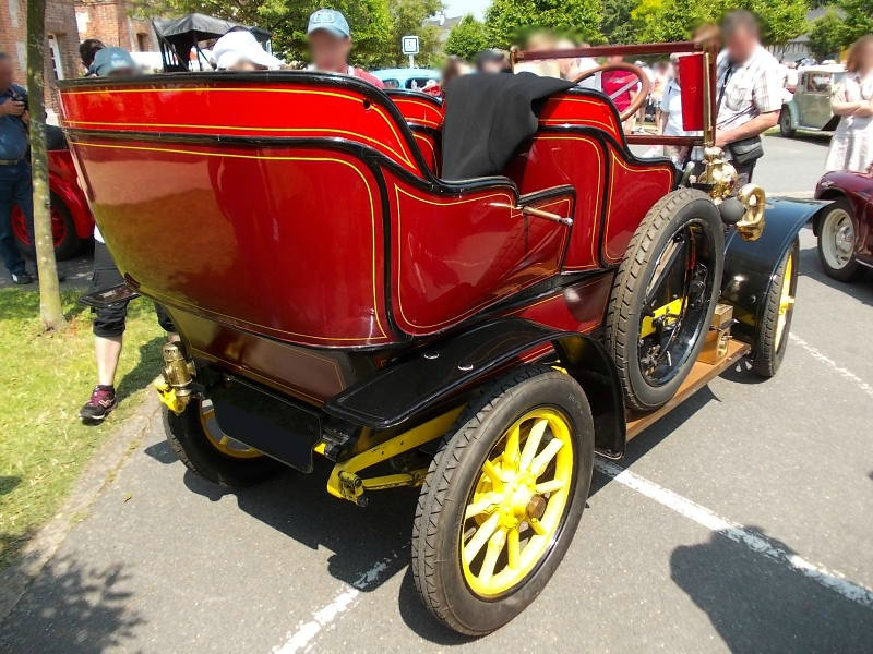 Lion-Peugeot V2C2, Bj. 1910 Heckansicht