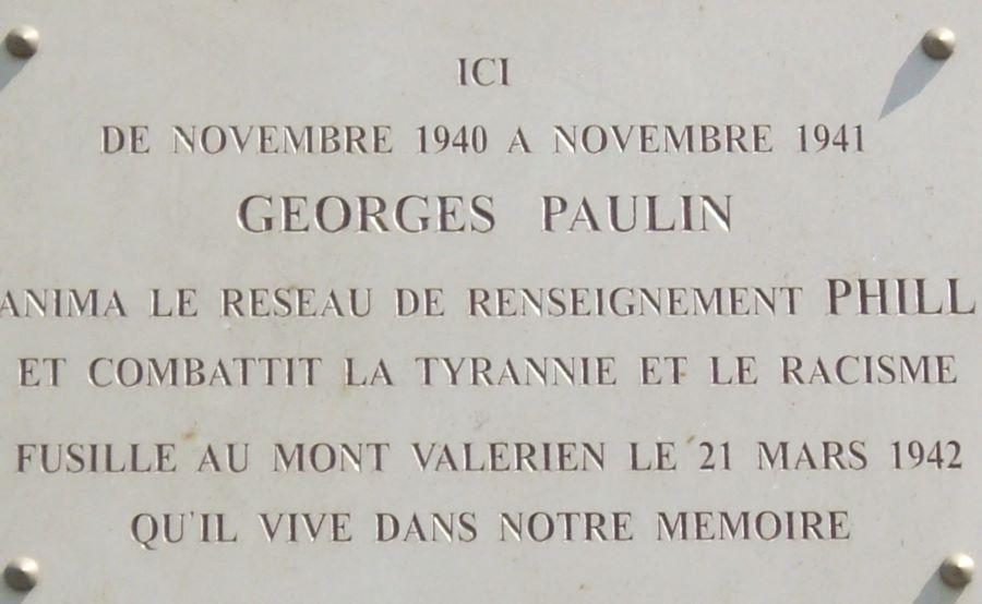Gedenktafel Georges Paulin