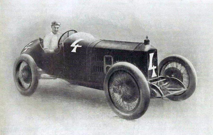 Andre Boillot auf L 25 bei der Targa Florio 1919