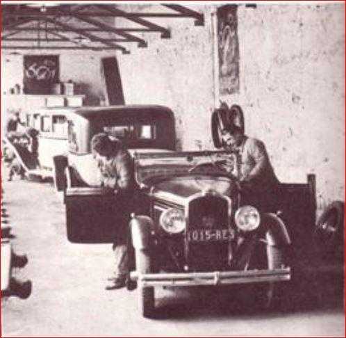 Werkstatt von Emile Darl'Mat Ende der 1920er Jahre