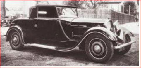 Bugatti Typ 49, von Pourtout eingekleidet