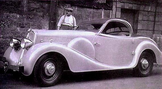 Marcel Pourtout und einer seiner berühmtesten Entwürfe - der Peugeot 301 Eclipse