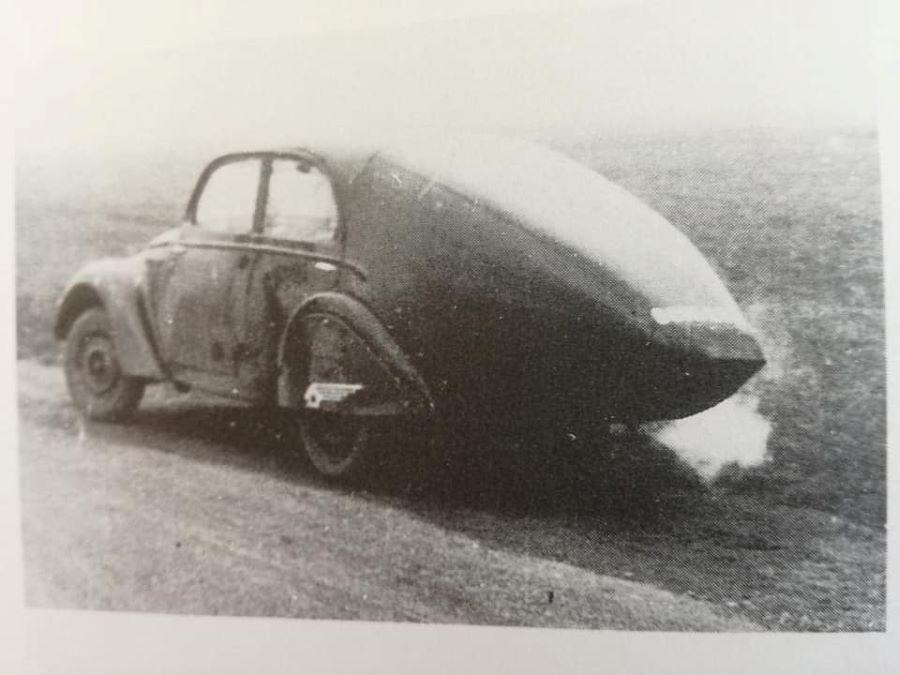 Tests auf der Basis eines Peugeot 202 mit verschiedene Heckformen