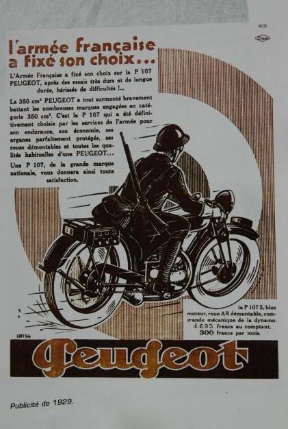 Werbeplakat P 107 Militär