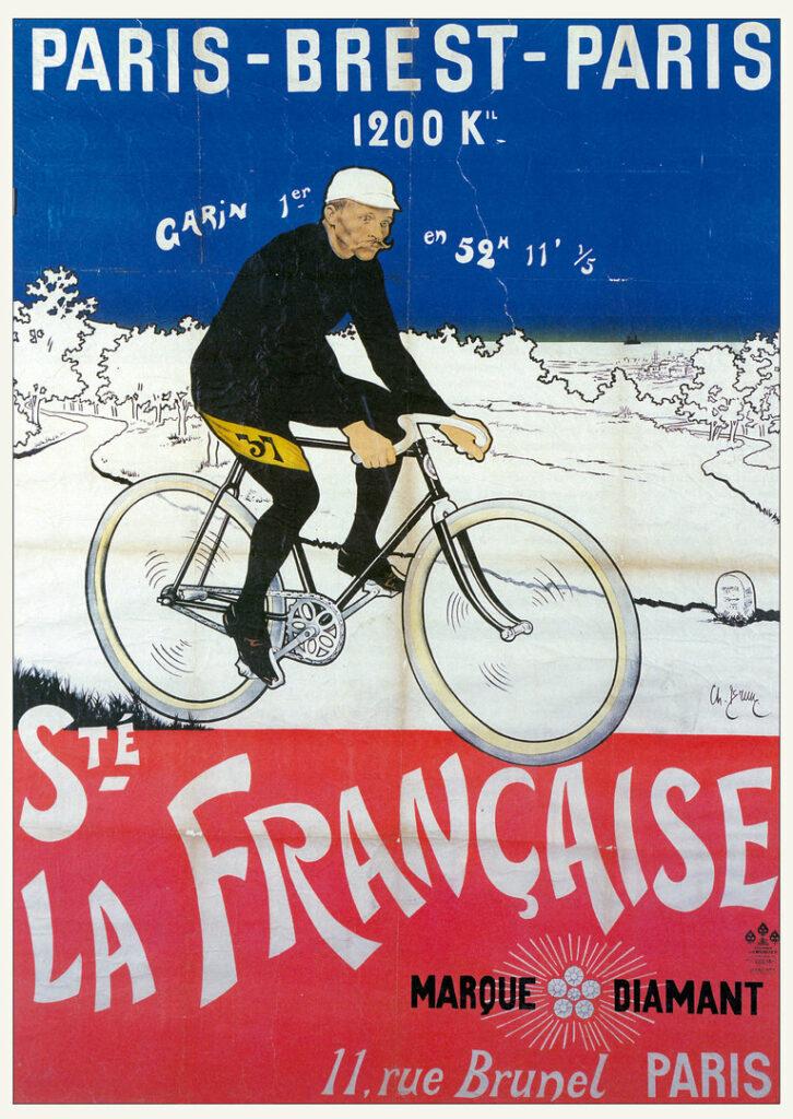 Plakat Fahrrad-Rennen Paris-Brest-Paris 1891